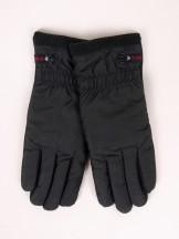 Rękawiczki męskie materiałowe czarne dotyk abs