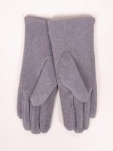 Rękawiczki kobiece szare gwiazdki z jetów