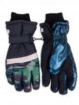 Rękawiczki narciarskie męskie niebieskie moro