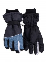 Rękawiczki narciarskie męskie niebieskio-grafitowe