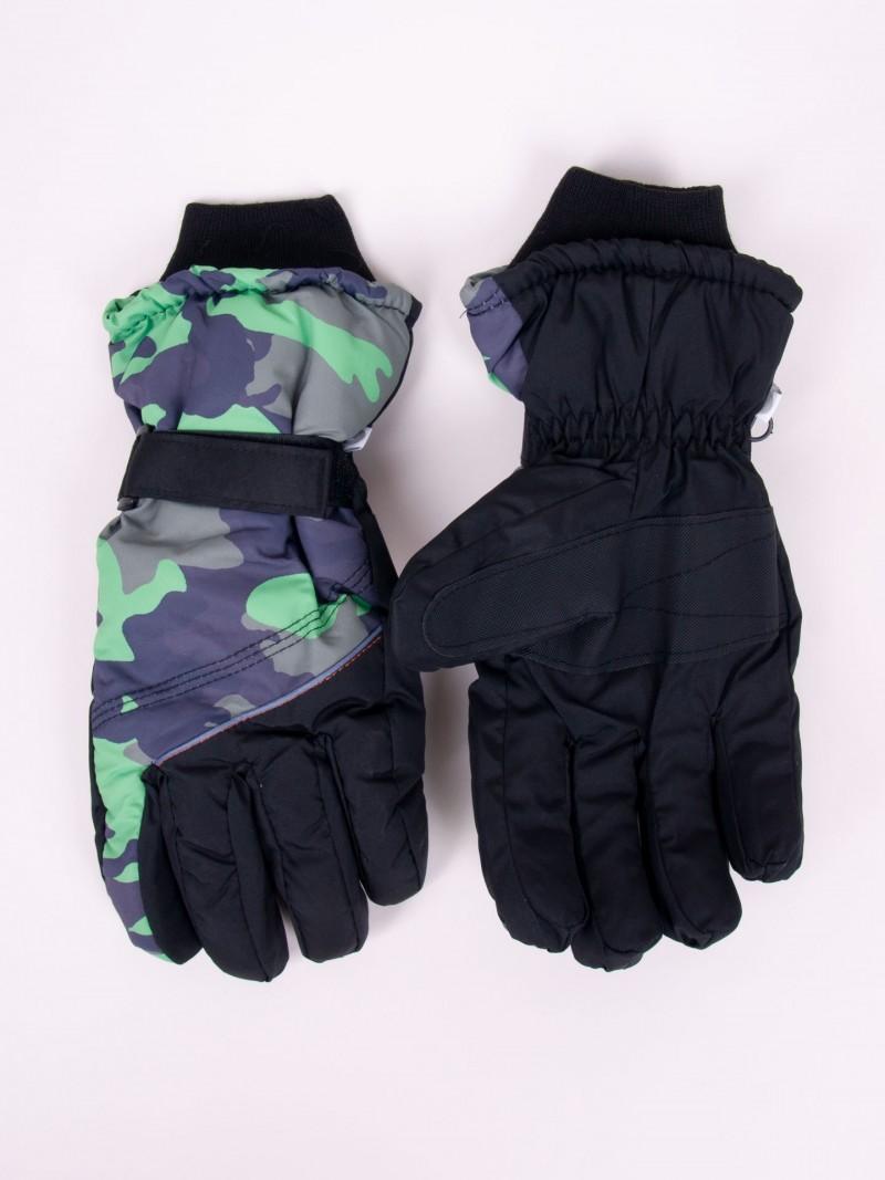 Rękawiczki narciarskie męskie czarne moro