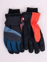Rękawiczki narciarskie męskie grantowo-szare