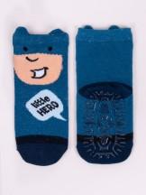 Skarpety bawełniane z silikonem antypoślizgowe chłopięce little hero