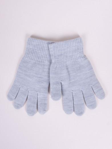Rękawiczki dziane jasnoszare