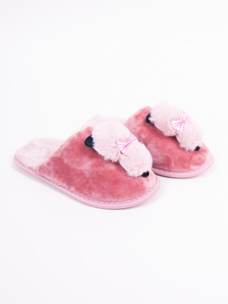 Klapki dziewczęce z kotkiem różowe