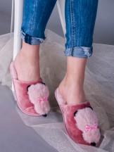 Klapki damskie z kotkiem różowe