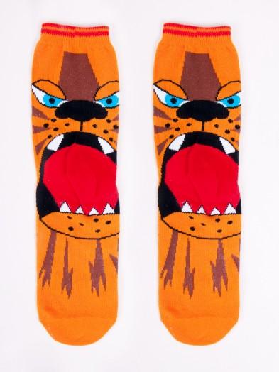 Skarpety bawełniane paszcza tygrysa na pięcie