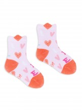 Skarpety w serca różowe dziewczęce