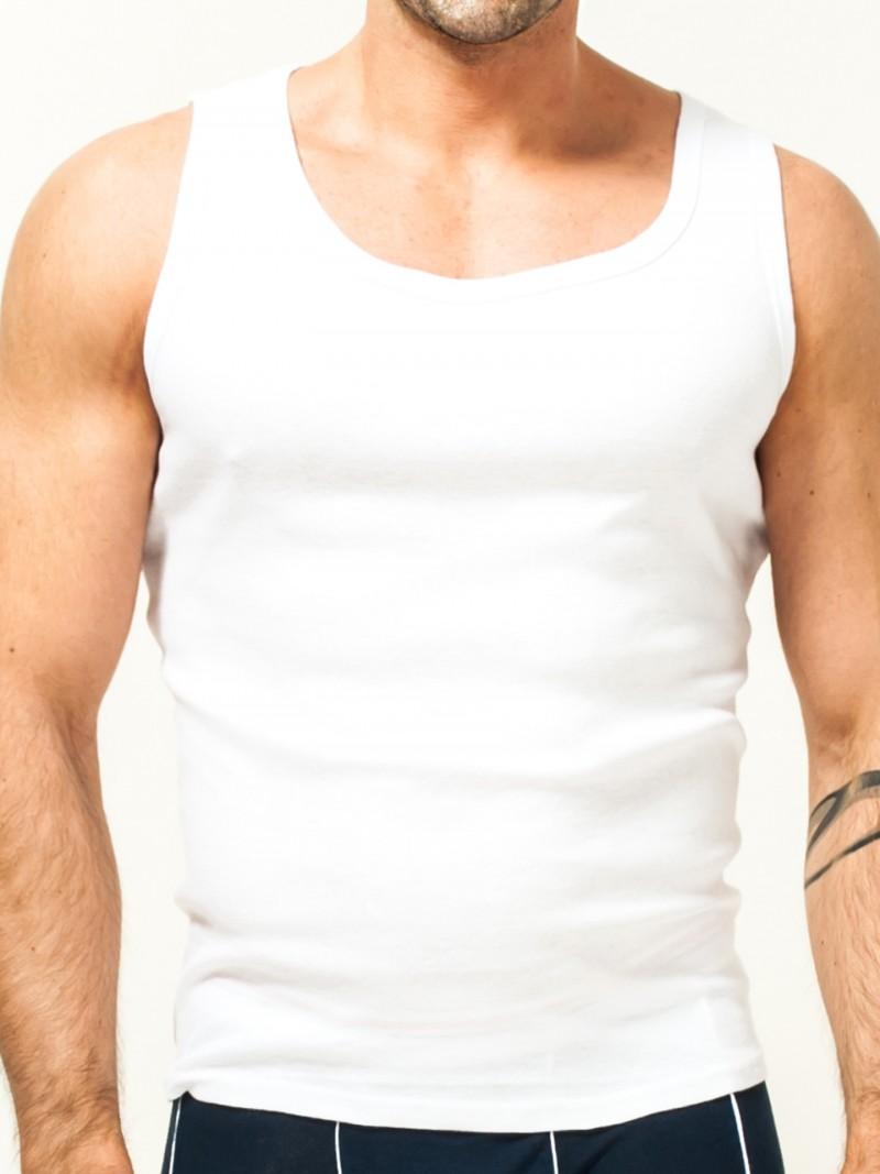 Podkoszulka bawełniania biała męska