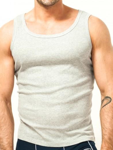 Podkoszulka bawełniania szara męska