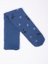 Rajstopy mikrofibra 60DEN jeans dziewczęce w kotki i kokardki