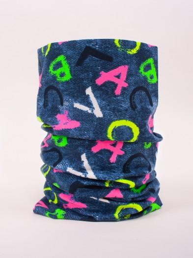 Komin dziecięcy bawełniany przejściowy literki