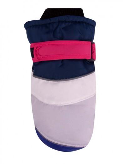 Rękawiczki narciarskie gładkie szaro-fioletowe