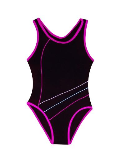 Kostium kąpielowy jednoczęściowy czarny