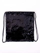 Plecak worek z cekinami odwracalnymi czarny