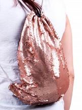 Plecak worek z cekinami odwracalnymi złoty