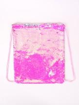 Plecak worek z cekinami odwracalnymi różowo-srebrny