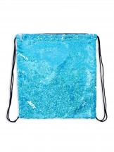 Plecak worek z cekinami odwracalnymi niebiesko-srebrny
