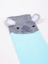Podkolanówki skarpety dziewczęce miętowe miś koala 3D
