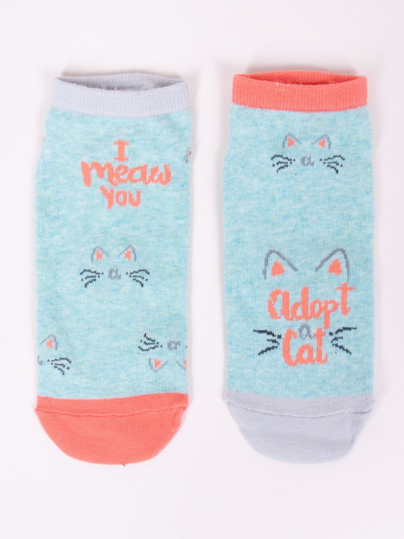 Skarpety Spoksy stopki bawełniane adopt a cat