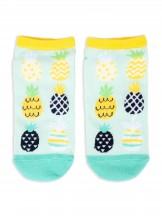 Skarpety Spoksy stopki bawełniane kolorwe ananasy