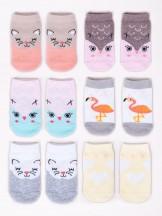 Skarpety dziewczęce niemowlęce bawełniane 6PAK w zwierzątka