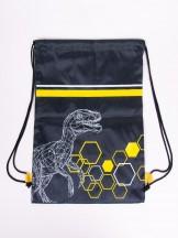 Plecak worek chłopięcy czarny z dinozaurem