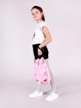 Plecak worek dziewczęcy różowy z kotkiem