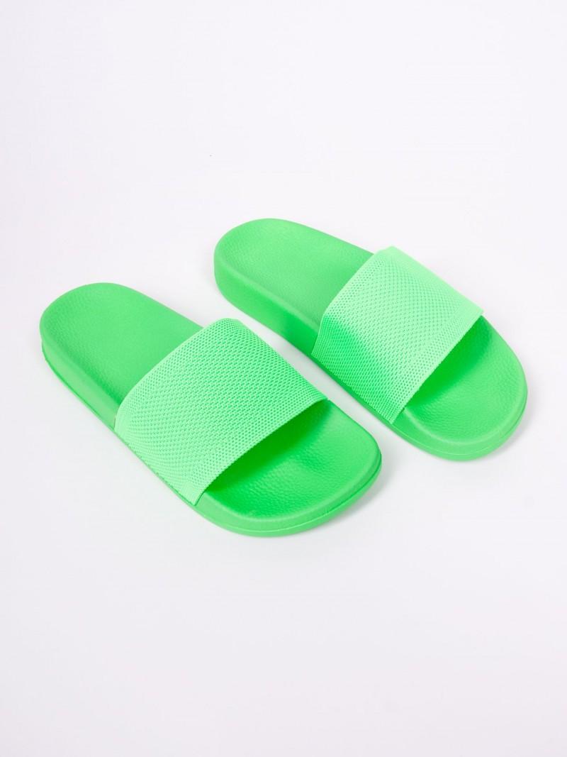 Klapki damskie nenowy zielony