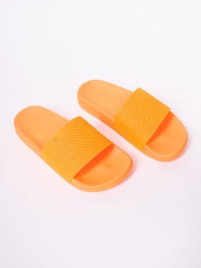 Klapki damskie nenowe pomarańczowe