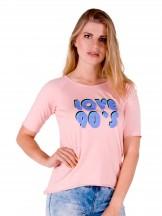 Podkoszulka t-shirt damski love90's różowy