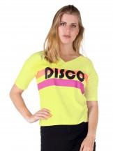 Podkoszulka t-shirt damski disco żółty