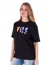 Podkoszulka t-shirt damski czarna VHS