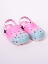 Klapki piankowe kroksy ogrodowe dziewczęce tęczowe różowo-niebieskie