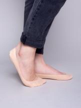 Skarpety stopki niskie damskie laserowe z silikonem beżowe 3PAK