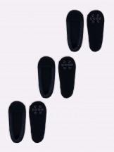 Skapety stopki 3PAK damskie koronkowe z antypoślizgowym ABS czarne