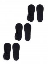 Skarpety stopki koronokwe za kostkę damskie czarne 3PAK