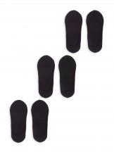 Skarpety damskie stopki z siateczką 3PAK czarne