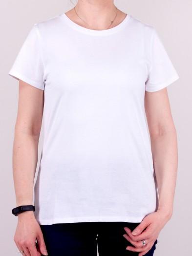 Podkoszulka t-shirt bawełniany damski biały gładki
