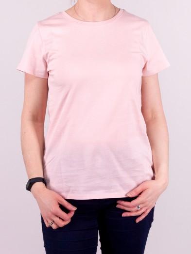 Podkoszulka t-shirt bawełniany damski brudny róż gładki