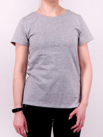 Podkoszulka t-shirt bawełniany damski szary melanż gładki