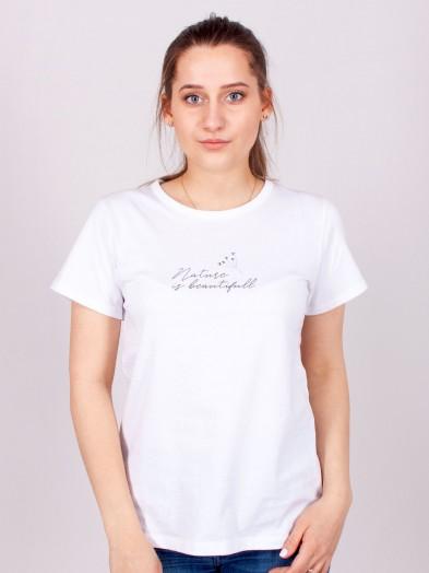Podkoszulka t-shirt bawełniany damski biały nature