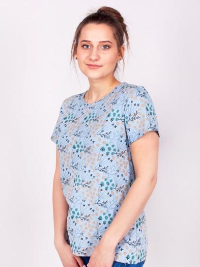 Podkoszulka t-shirt bawełniany damski szary jesień