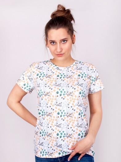 Podkoszulka t-shirt bawełniany damski biały jesień