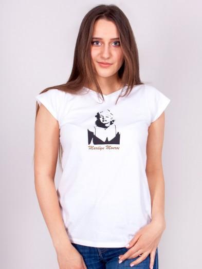 Podkoszulka t-shirt bawełniany damski biały merilyn