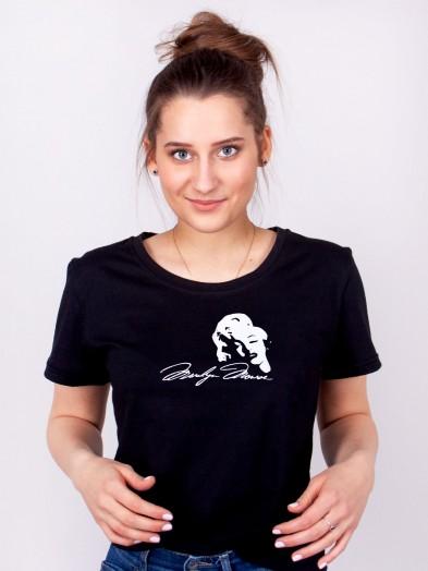 Podkoszulka t-shirt bawełniany damski czarny merilyn