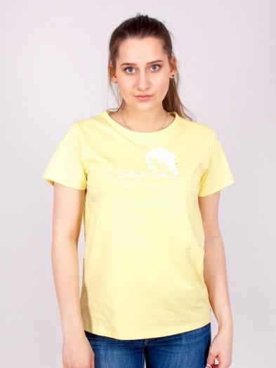 Podkoszulka t-shirt bawełniany damski żółty merilyn