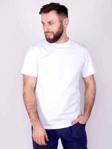 Podkoszulka t-shirt bawełniany męski biały gładki