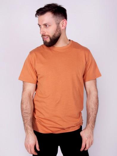 Podkoszulka t-shirt bawełniany męski musztardowy gładki