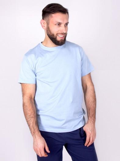 Podkoszulka t-shirt bawełniany męski jasny szary gładki